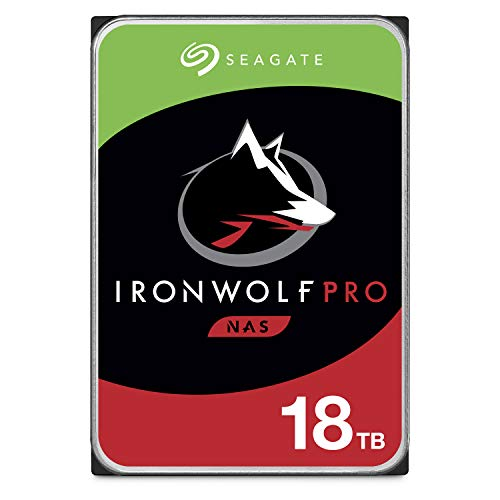 Seagate IronWolf Pro 18TB NAS Internal Hard Drive HDD – 3.5 Inch SATA 6Gb/s 7200 RPM 256MB Cache for RAID Network Attached Storage, Data Recovery Service – Frustration Free Packaging (ST18000NE000)