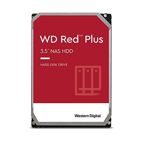 "Western Digital 14TB WD Red Plus NAS Internal Hard Drive HDD - 7200 RPM, SATA 6 GB/s, CMR, 512 MB Cache, 3.5"" - WD140EFGX"