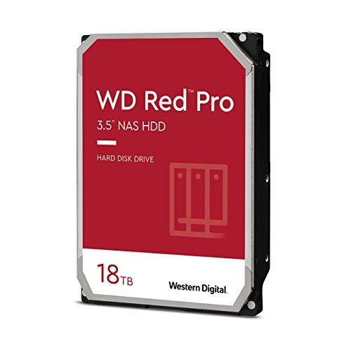 """Western Digital 18TB WD Red Pro NAS Internal Hard Drive HDD - 7200 RPM, SATA 6 Gb/s, CMR, 256 MB Cache, 3.5"""" - WD181KFGX"""
