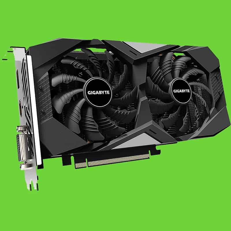An NVIDIA GeForce GTX 1650 SUPER from GIGABYTE