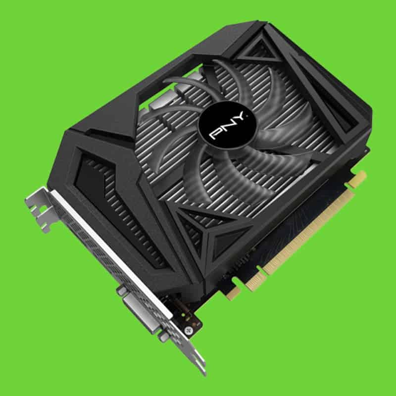 An NVIDIA GeForce GTX 1650 SUPER from PNY
