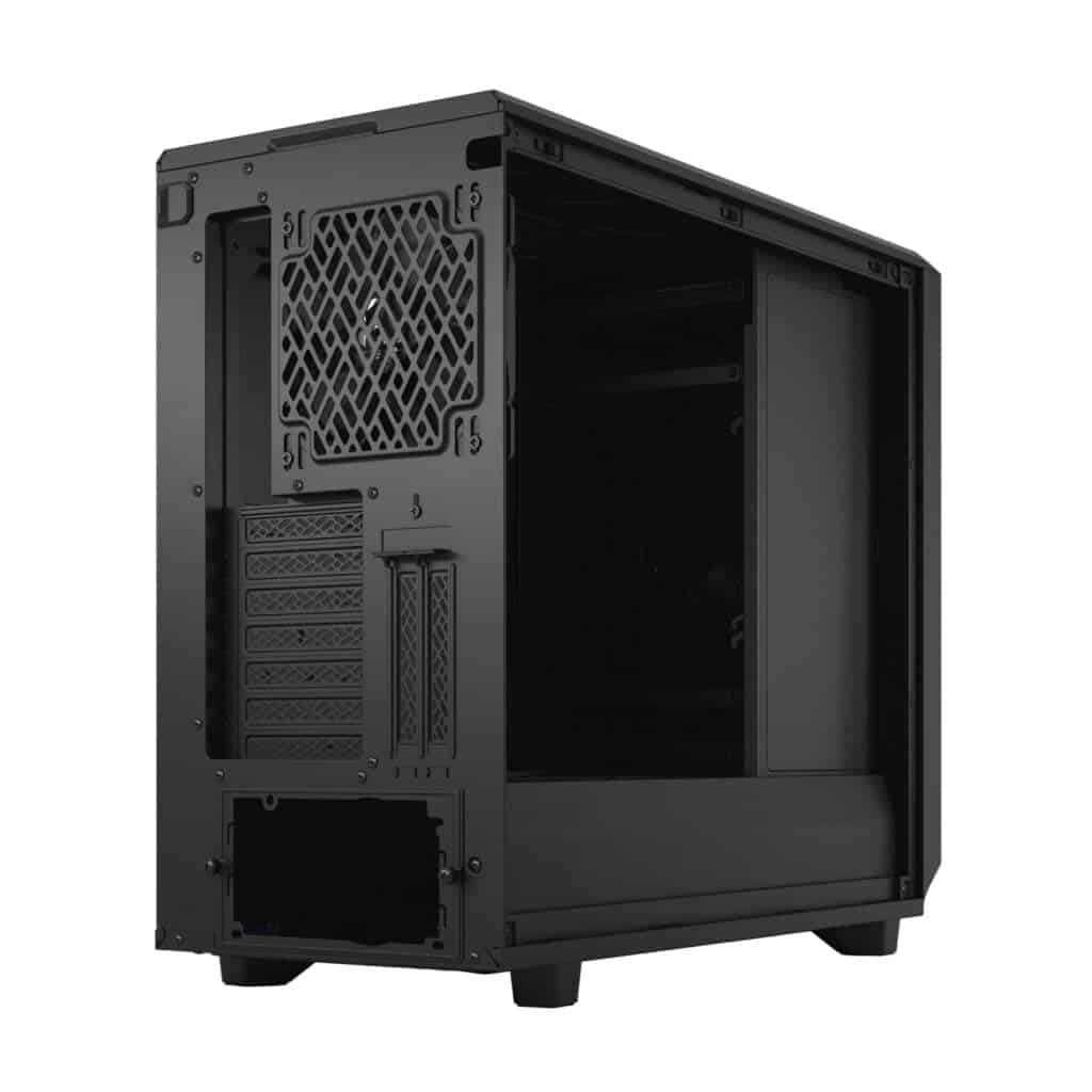 The rear-end of the Fractal Design Meshify 2 XL