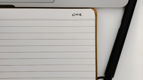 A notebook representing a start page