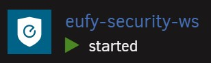 The eufy logo being displayed on the eufy-security-ws Docker container on Unraid